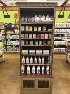 goat milk soap display at jungle jims
