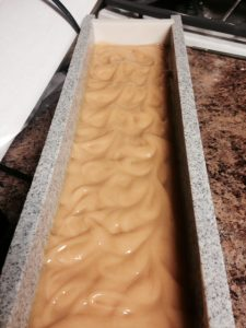 soap-swirl while making goat milk soap