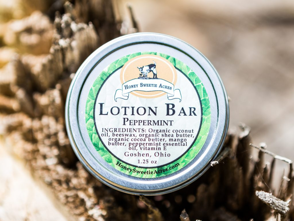 Peppermint essential oil Lotion Bar