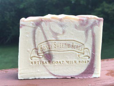 peppermint essential oil goat milk soap