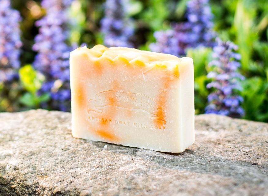 tangerine goat milk soap