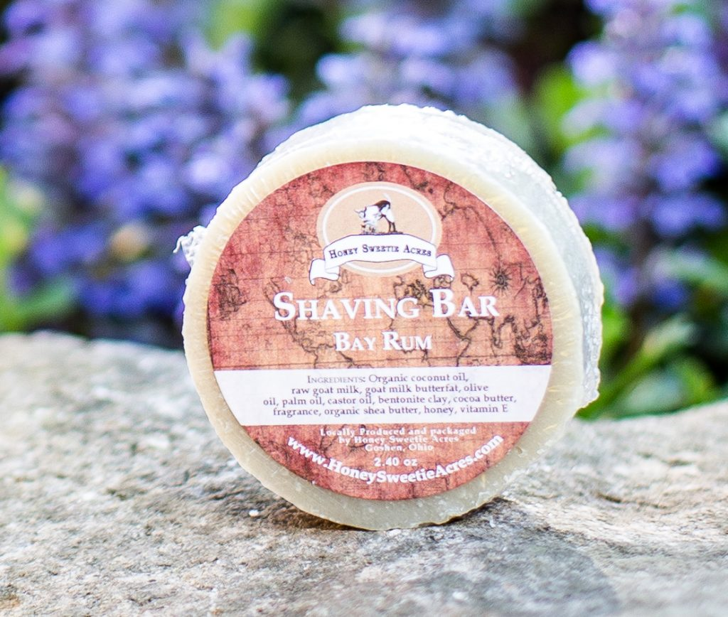 goat milk shaving soap bar