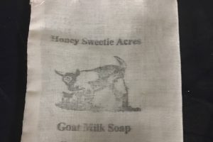 cotton stamped goat milk soap sacks