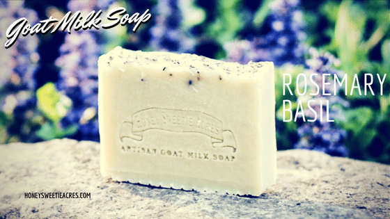 Rosemary Basil Essential Oil Goat Milk Soap