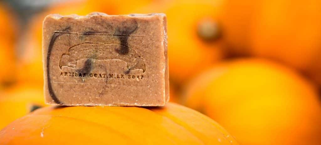 Pumpkin goat milk soap