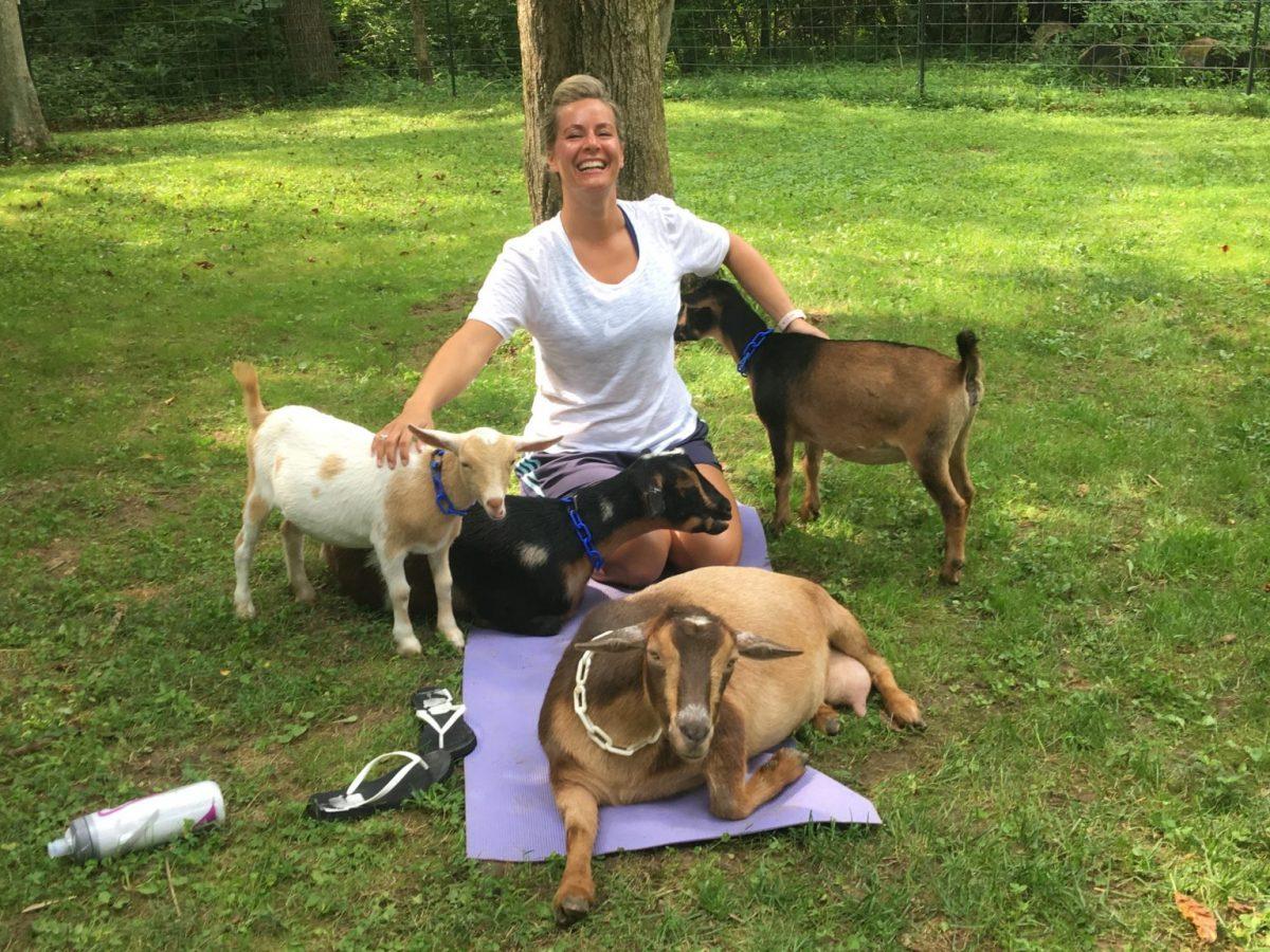 goat yoga on our ohio farm